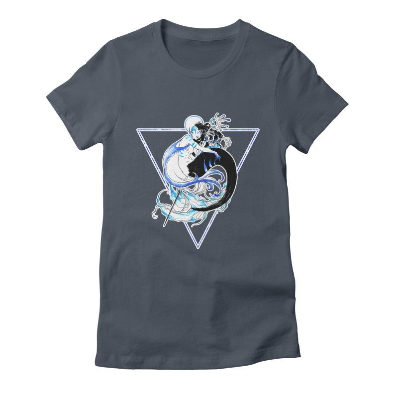 Blue Mermaid Women's T-Shirt by Mar del Valle's Artist Shop