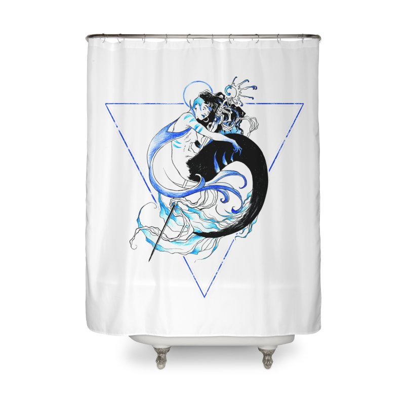 Blue Mermaid Home Shower Curtain by Mar del Valle's Artist Shop