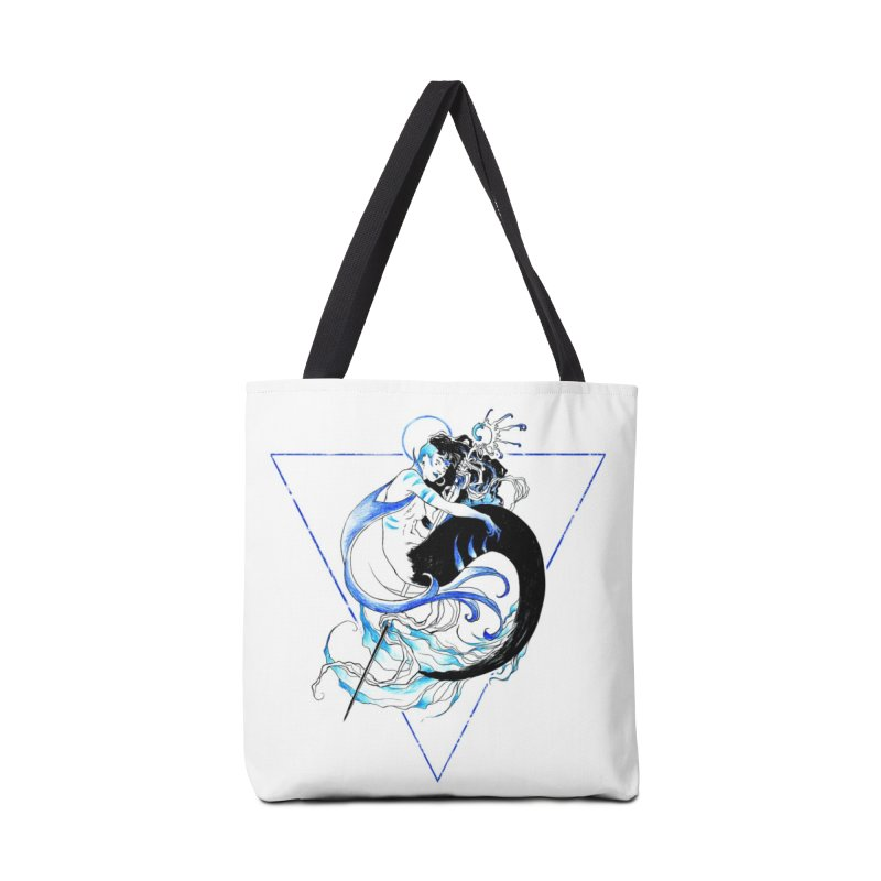 Blue Mermaid Accessories Tote Bag Bag by Mar del Valle's Artist Shop