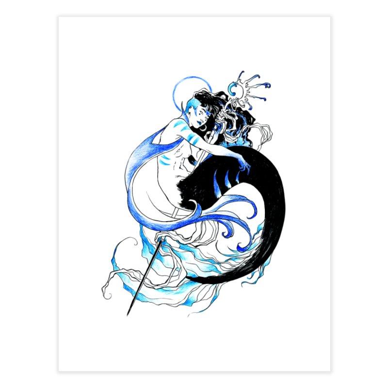 Blue Mermaid Home Fine Art Print by Mar del Valle's Artist Shop