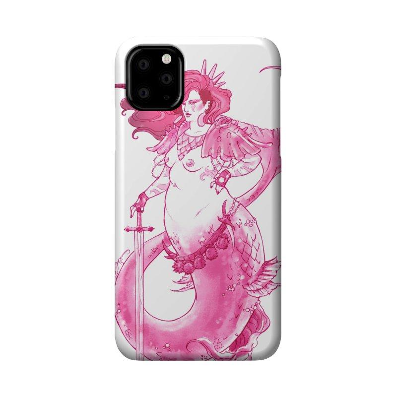Pink Mermaid - Superboss Badass Siren Accessories Phone Case by Mar del Valle's Artist Shop