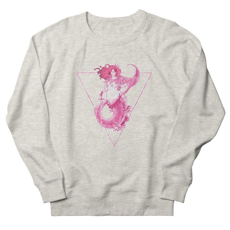 Pink Mermaid - Superboss Badass Siren Women's Sweatshirt by Mar del Valle's Artist Shop