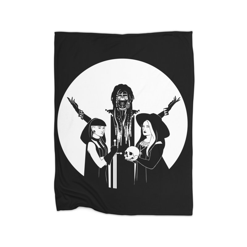 Never Hide: Three Witches Home Blanket by Mar del Valle's Artist Shop