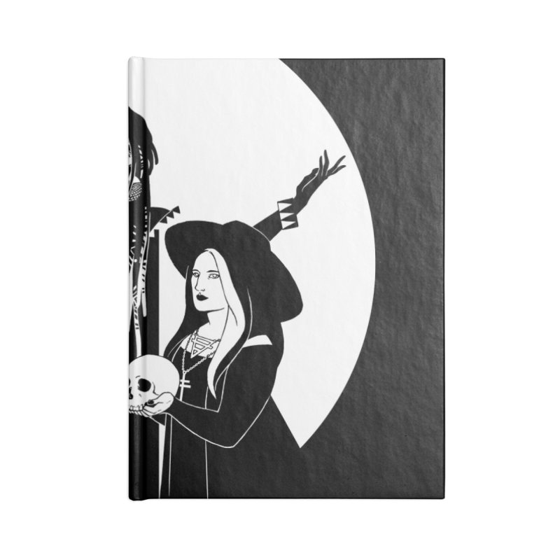 Never Hide: Three Witches Accessories Lined Journal Notebook by Mar del Valle's Artist Shop