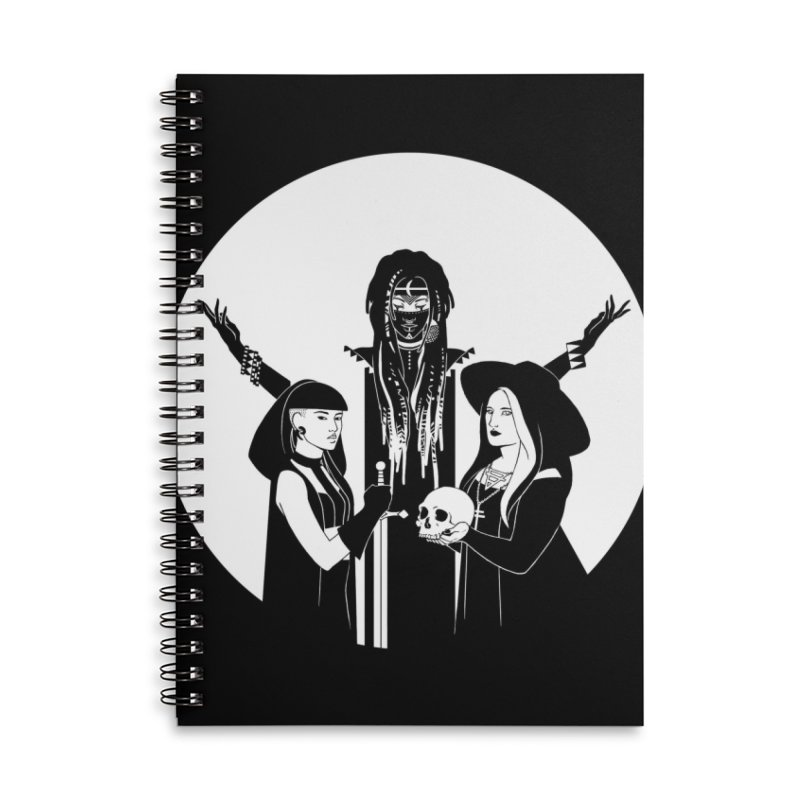Never Hide: Three Witches Accessories Lined Spiral Notebook by Mar del Valle's Artist Shop