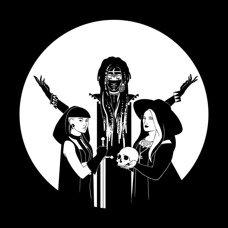 Never Hide: Three Witches Kids T-Shirt by Mar del Valle's Artist Shop