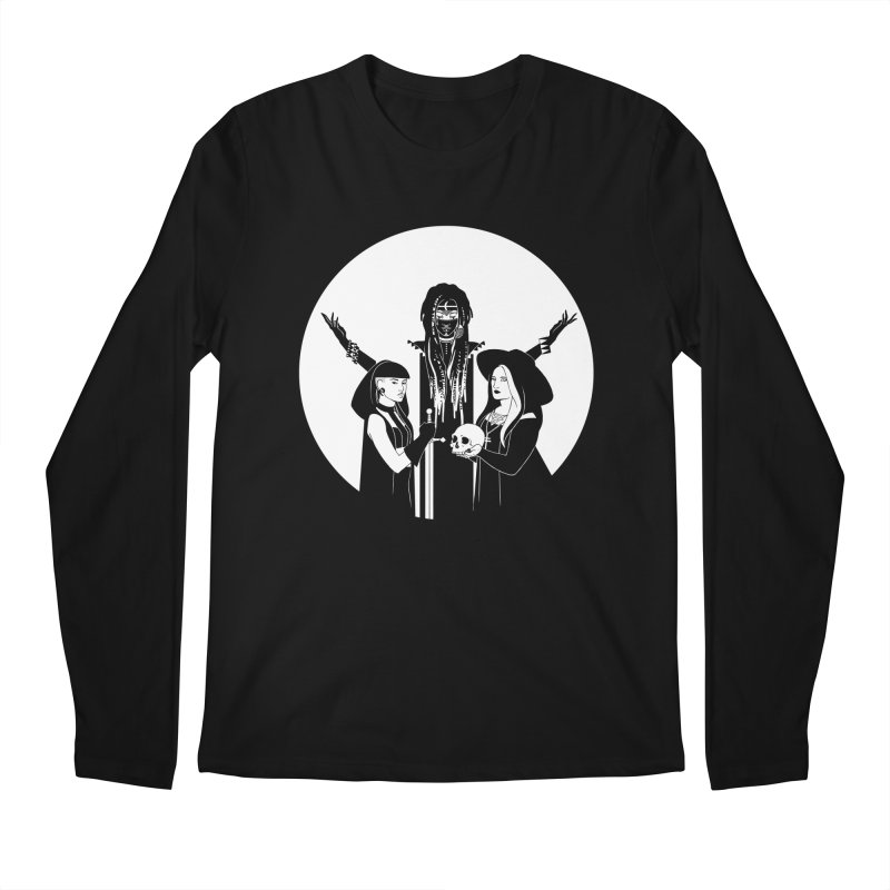 Never Hide: Three Witches Men's Longsleeve T-Shirt by Mar del Valle's Artist Shop