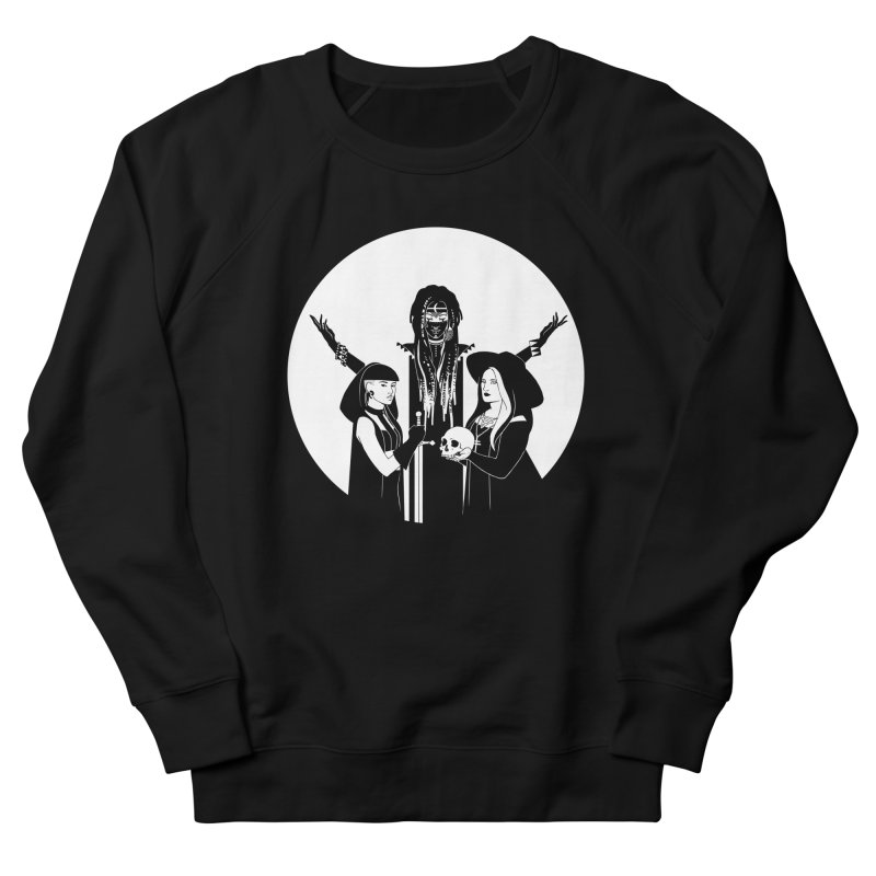 Never Hide: Three Witches Men's French Terry Sweatshirt by Mar del Valle's Artist Shop