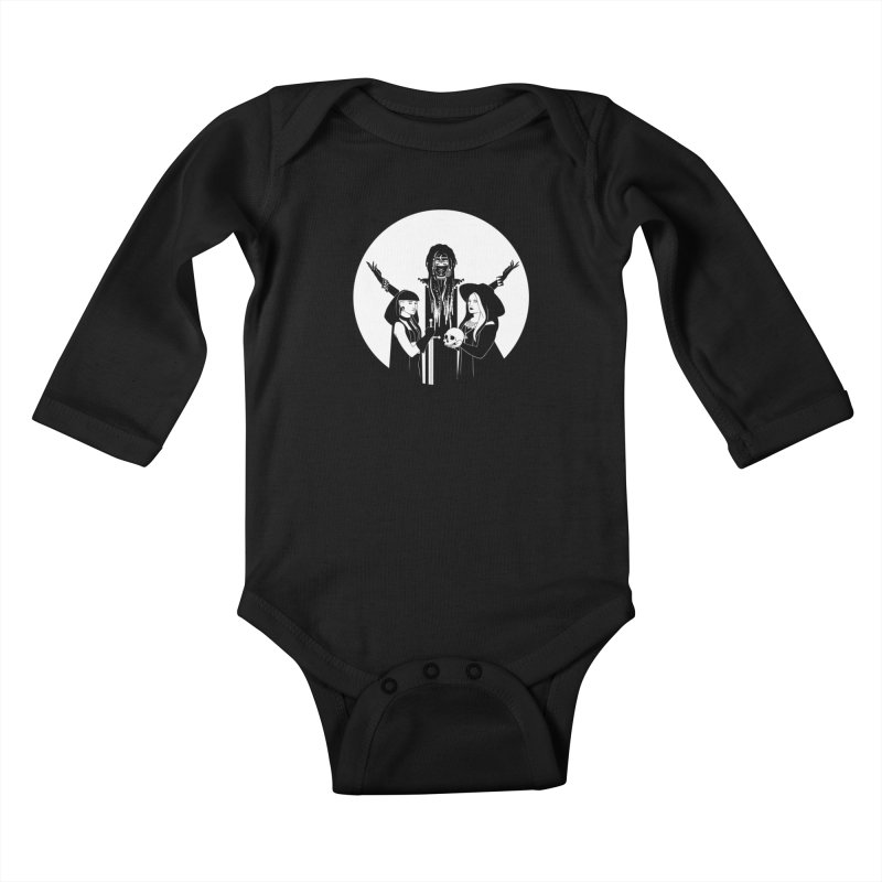 Never Hide: Three Witches Kids Baby Longsleeve Bodysuit by Mar del Valle's Artist Shop