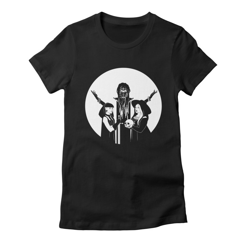 Never Hide: Three Witches Women's Fitted T-Shirt by Mar del Valle's Artist Shop