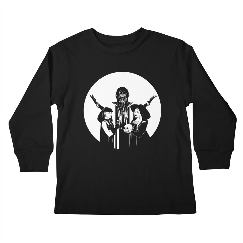Never Hide: Three Witches Kids Longsleeve T-Shirt by Mar del Valle's Artist Shop
