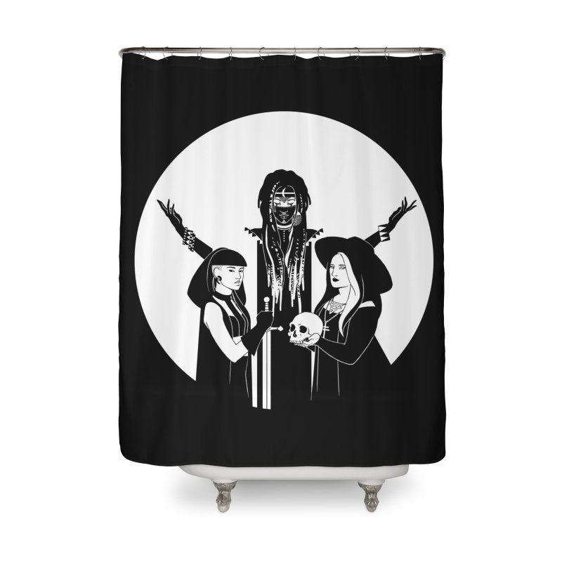 Never Hide: Three Witches Home Shower Curtain by Mar del Valle's Artist Shop