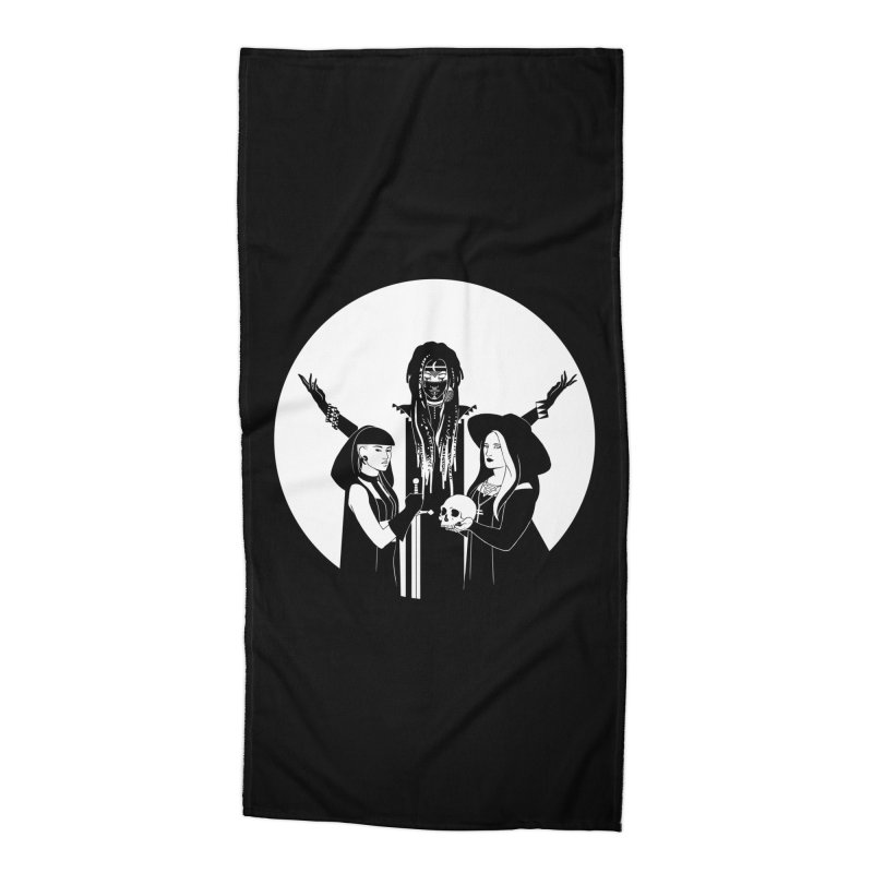 Never Hide: Three Witches Accessories Beach Towel by Mar del Valle's Artist Shop