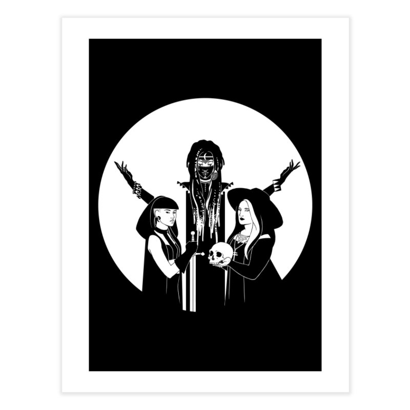 Never Hide: Three Witches Home Fine Art Print by Mar del Valle's Artist Shop