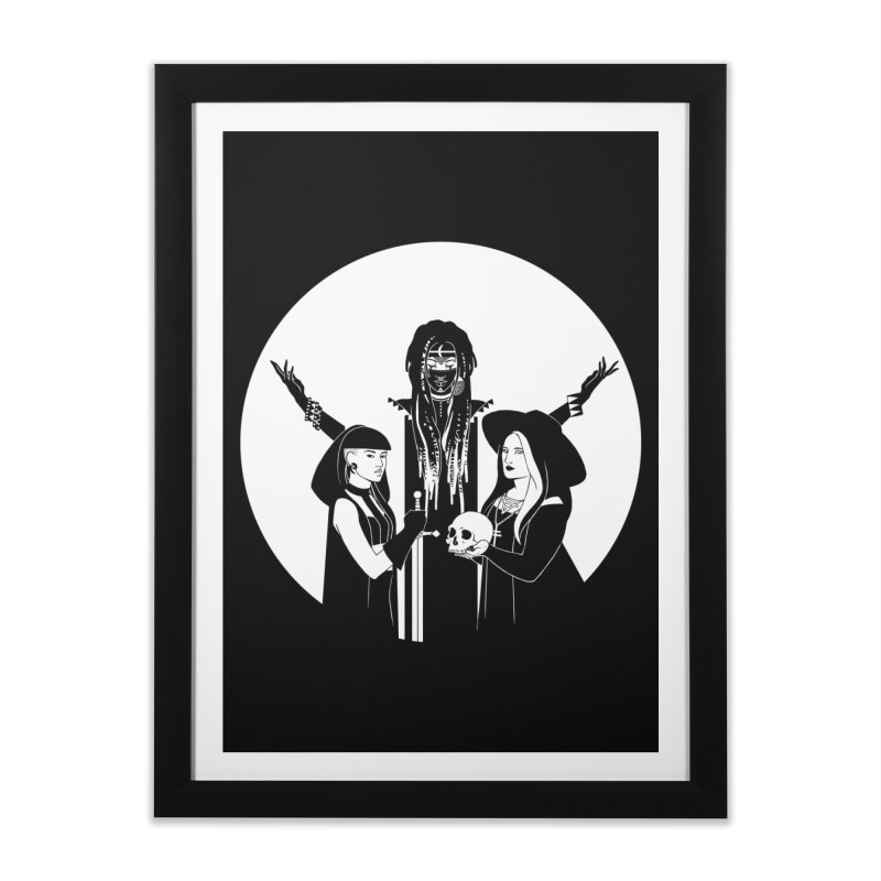 Never Hide: Three Witches Home Framed Fine Art Print by Mar del Valle's Artist Shop