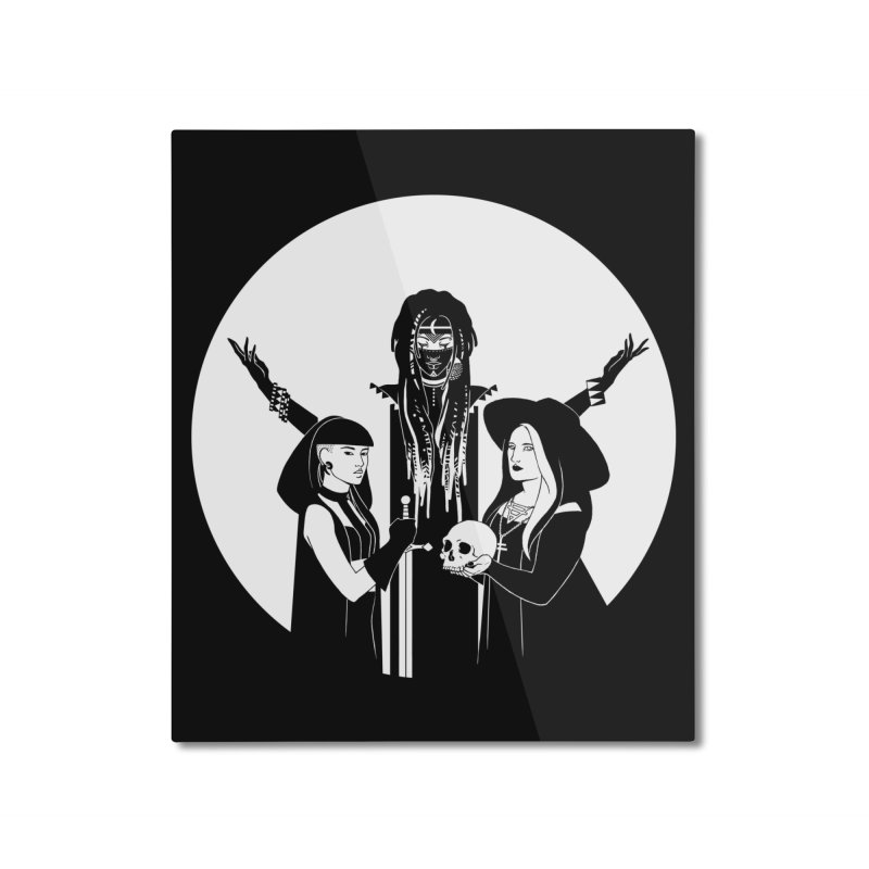 Never Hide: Three Witches Home Mounted Aluminum Print by Mar del Valle's Artist Shop
