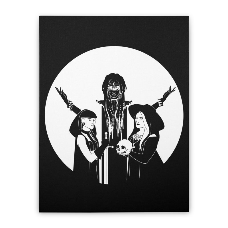 Never Hide: Three Witches Home Stretched Canvas by Mar del Valle's Artist Shop