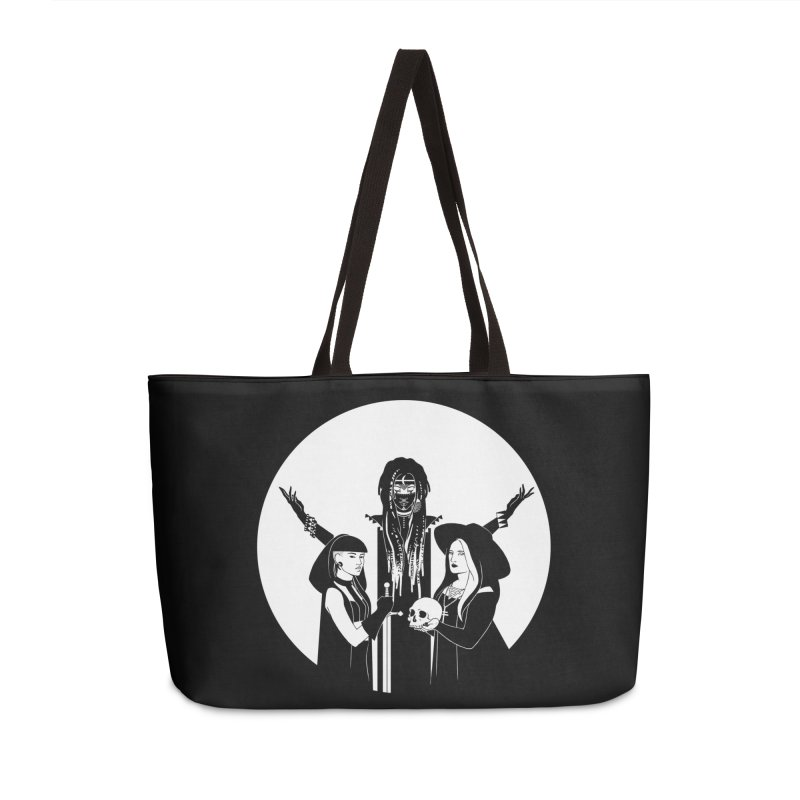 Never Hide: Three Witches Accessories Weekender Bag Bag by Mar del Valle's Artist Shop
