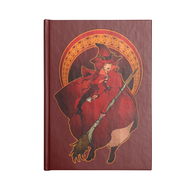 The Red Witch Accessories Lined Journal Notebook by Mar del Valle's Artist Shop