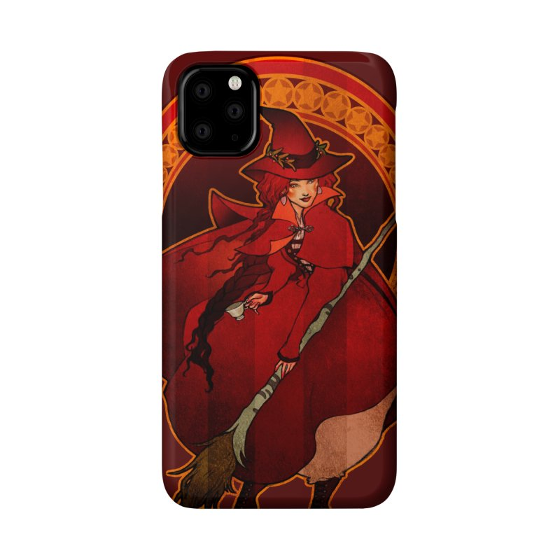 The Red Witch Accessories Phone Case by Mar del Valle's Artist Shop