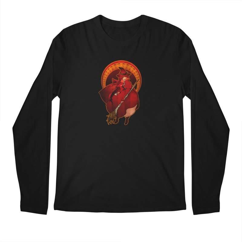 The Red Witch Men's Longsleeve T-Shirt by Mar del Valle's Artist Shop