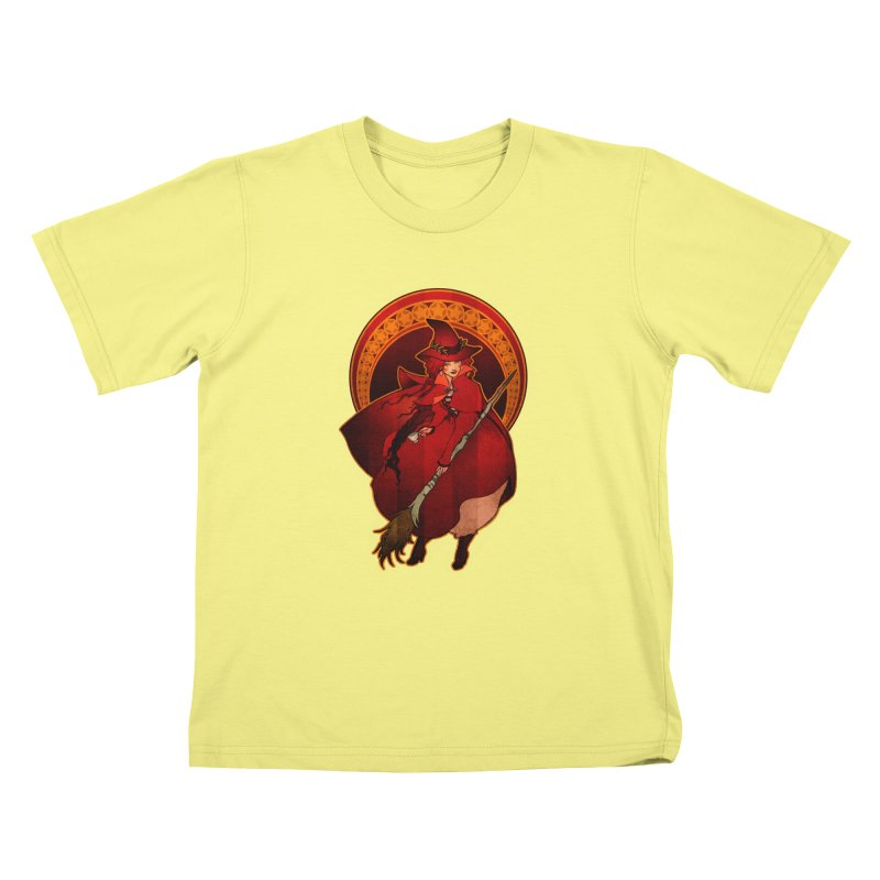 The Red Witch Kids T-shirt by Mar del Valle's Artist Shop