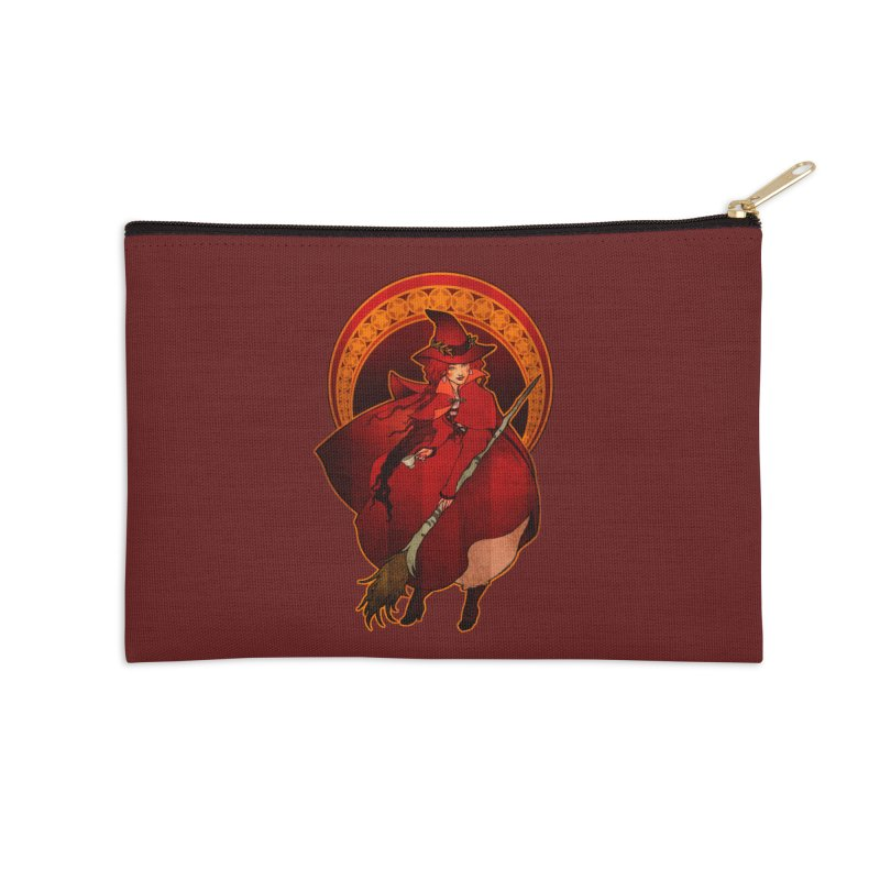 The Red Witch Accessories Zip Pouch by Mar del Valle's Artist Shop
