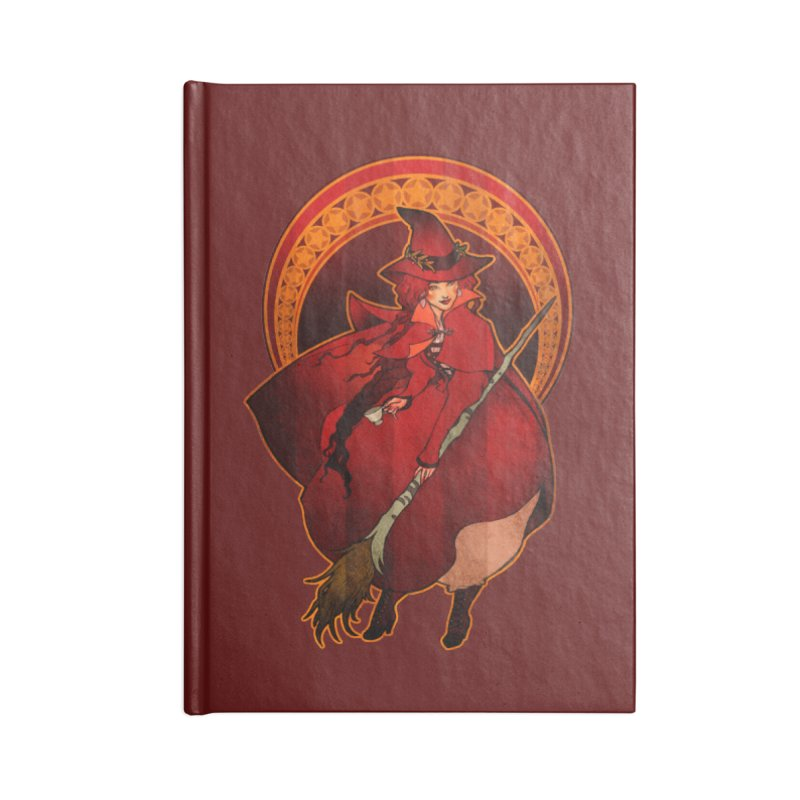 The Red Witch Accessories Notebook by Mar del Valle's Artist Shop