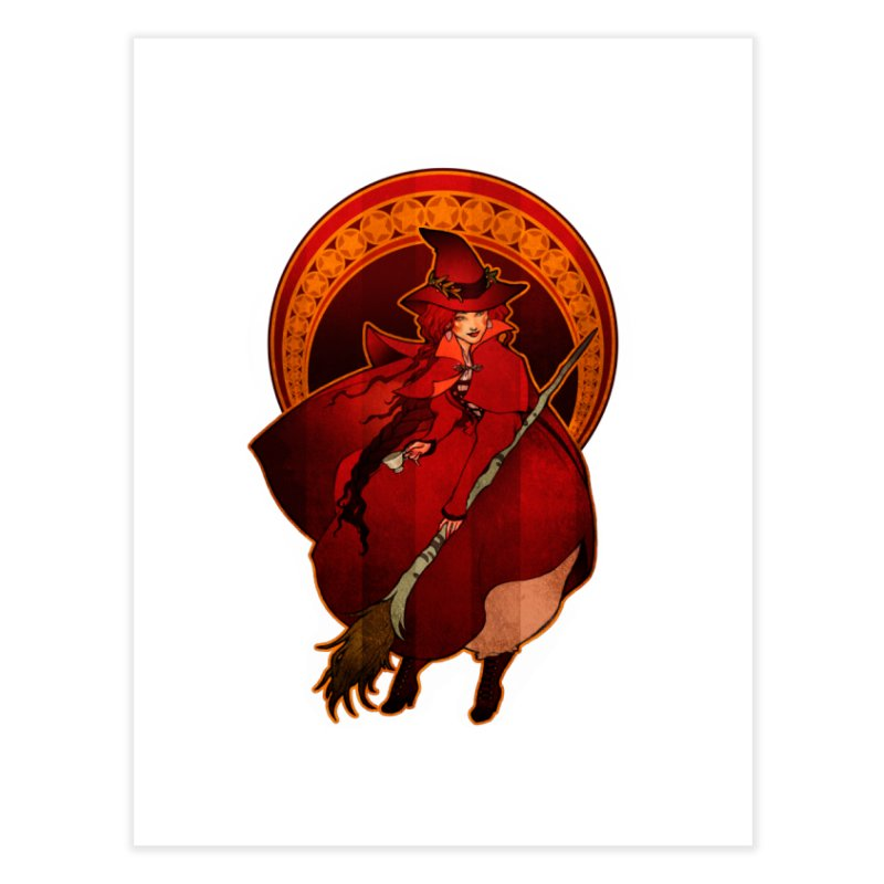 The Red Witch   by Mar del Valle's Artist Shop