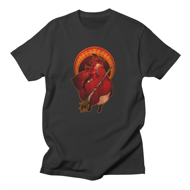 The Red Witch Men's Regular T-Shirt by Mar del Valle's Artist Shop