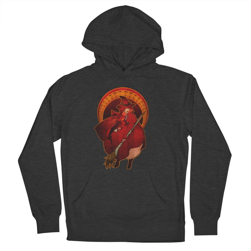 The Red Witch Women's French Terry Pullover Hoody by Mar del Valle's Artist Shop