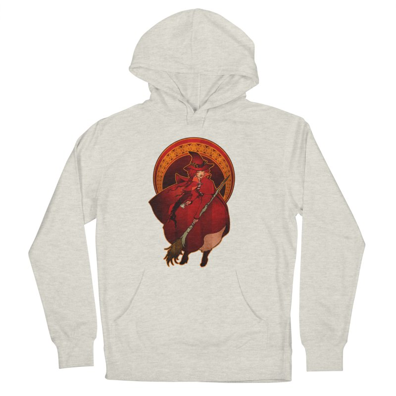 The Red Witch Women's Pullover Hoody by Mar del Valle's Artist Shop