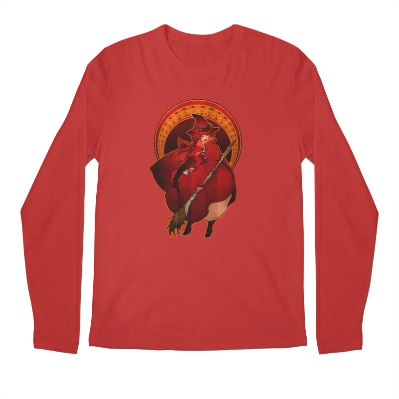 The Red Witch Men's Regular Longsleeve T-Shirt by Mar del Valle's Artist Shop