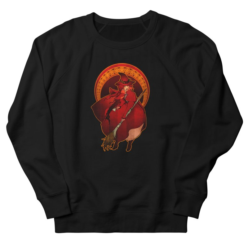 The Red Witch Women's French Terry Sweatshirt by Mar del Valle's Artist Shop