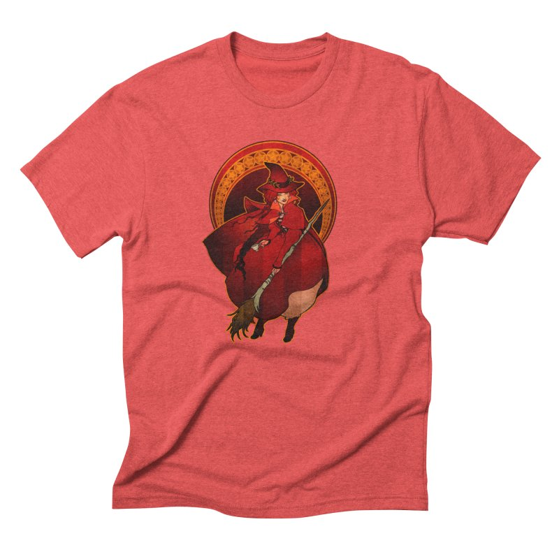 The Red Witch Men's Triblend T-Shirt by Mar del Valle's Artist Shop