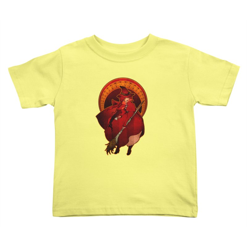 The Red Witch Kids Toddler T-Shirt by Mar del Valle's Artist Shop