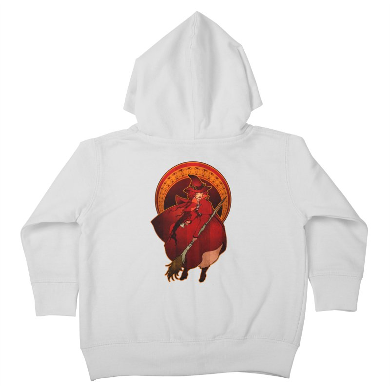 The Red Witch Kids Toddler Zip-Up Hoody by Mar del Valle's Artist Shop