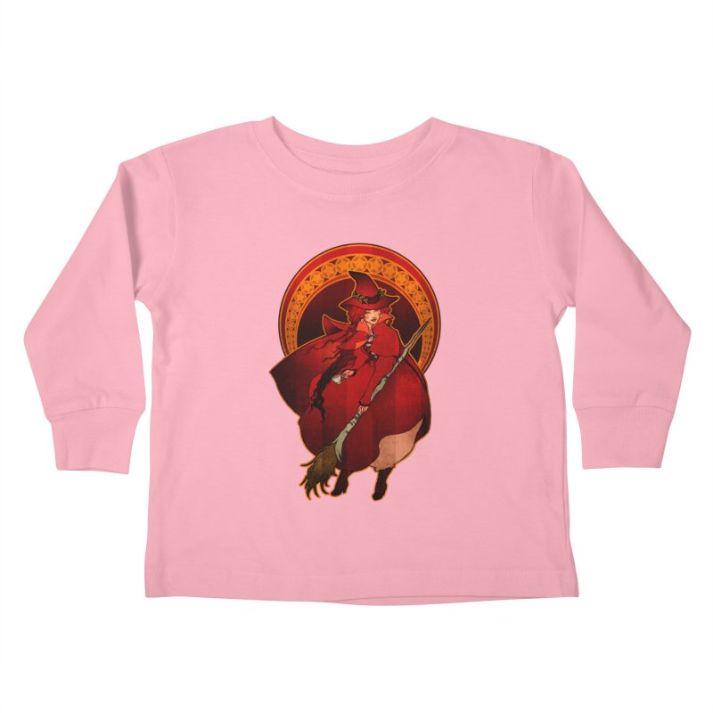 The Red Witch Kids Toddler Longsleeve T-Shirt by Mar del Valle's Artist Shop