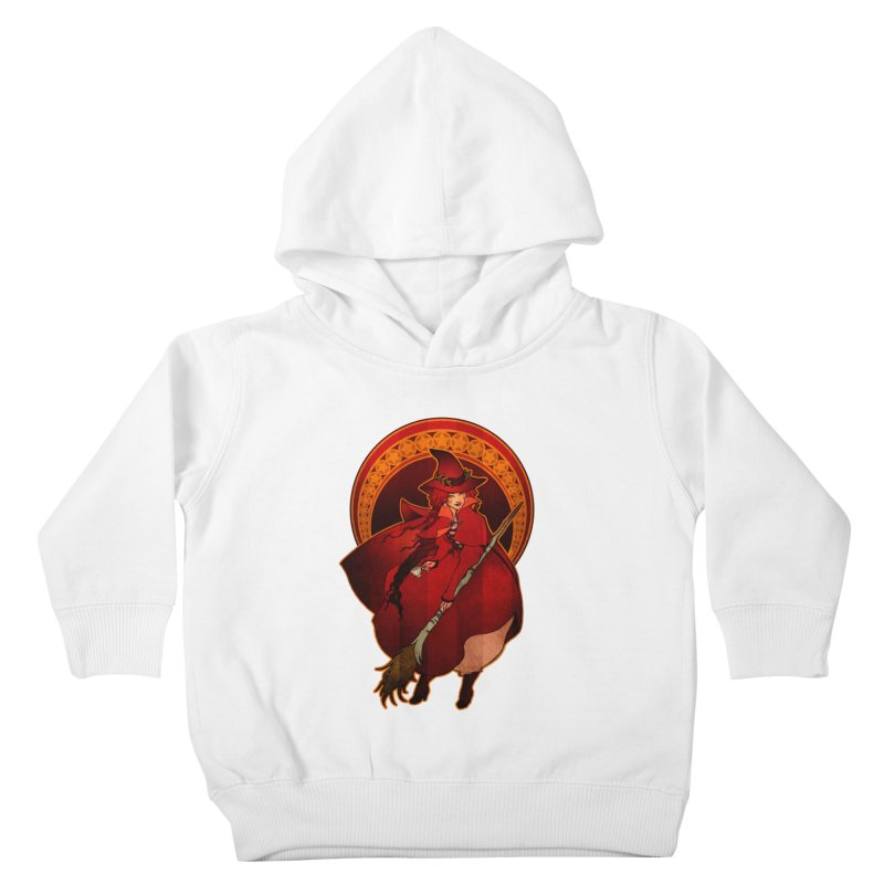 The Red Witch Kids Toddler Pullover Hoody by Mar del Valle's Artist Shop