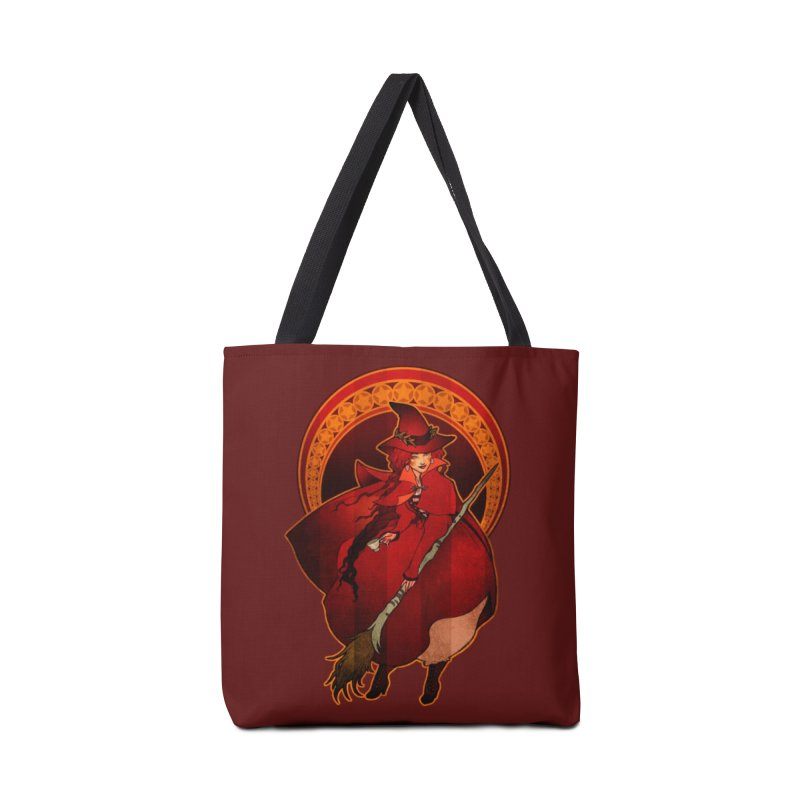 The Red Witch Accessories Tote Bag Bag by Mar del Valle's Artist Shop