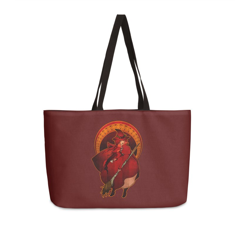The Red Witch Accessories Weekender Bag Bag by Mar del Valle's Artist Shop
