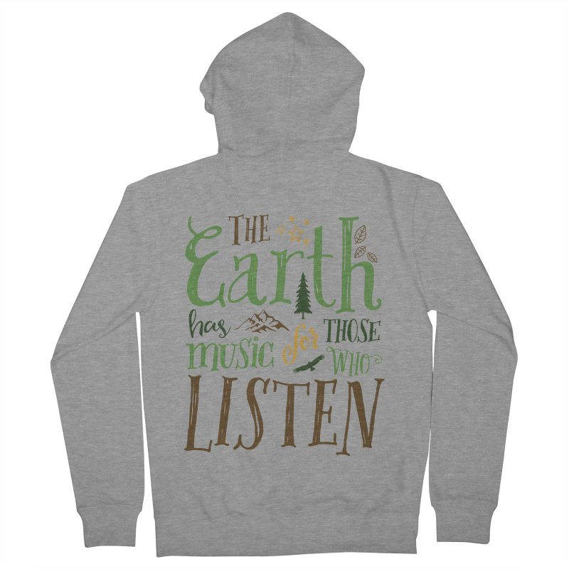 The Earth's Music Women's French Terry Zip-Up Hoody by Margie Mark's Artist Shop