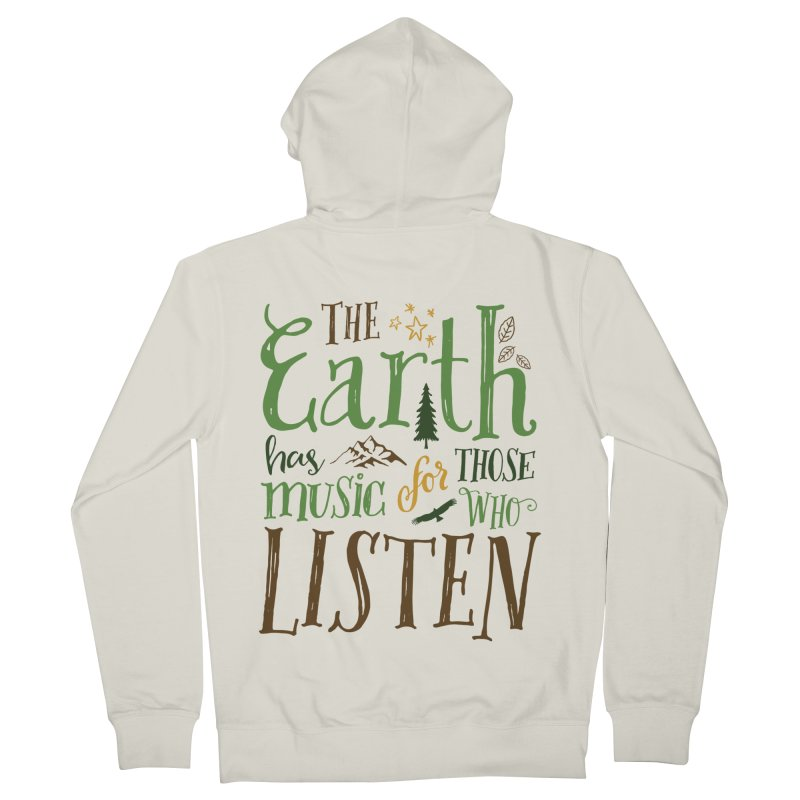 The Earth's Music Men's Zip-Up Hoody by Margie Mark's Artist Shop