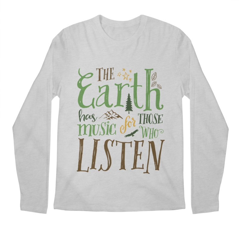 The Earth's Music Men's Longsleeve T-Shirt by Margie Mark's Artist Shop