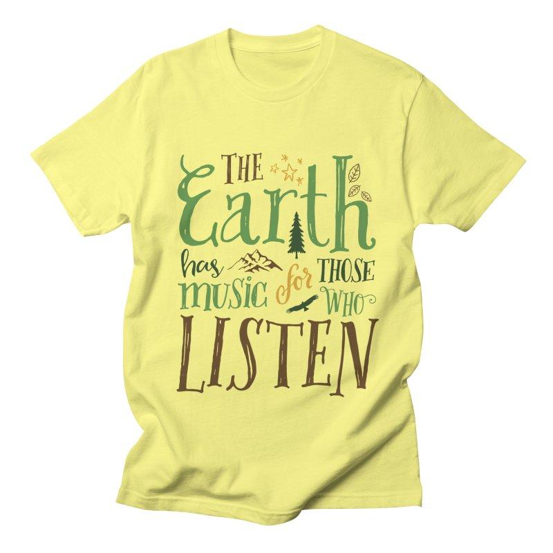 The Earth's Music Women's Unisex T-Shirt by Margie Mark's Artist Shop