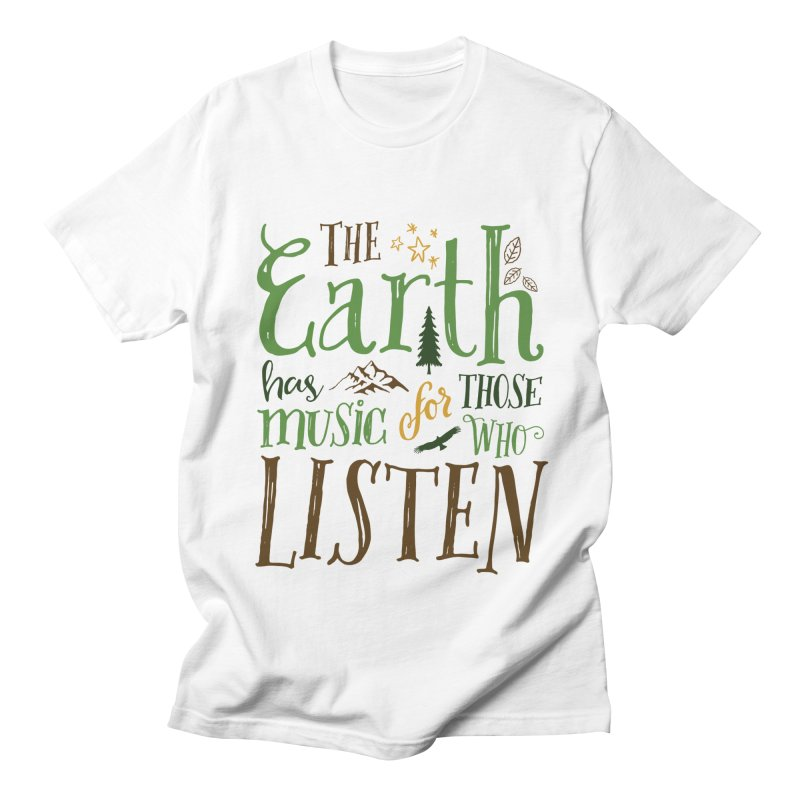The Earth's Music Men's T-shirt by Margie Mark's Artist Shop