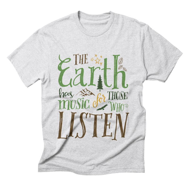 The Earth's Music Men's Triblend T-Shirt by Margie Mark's Artist Shop