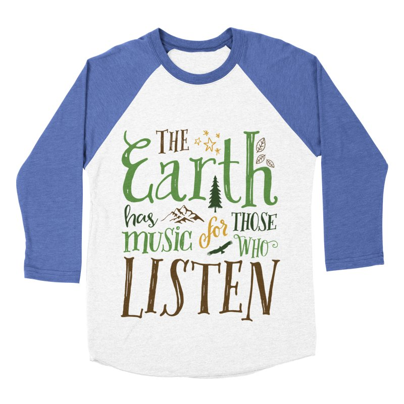 The Earth's Music Women's Baseball Triblend T-Shirt by Margie Mark's Artist Shop