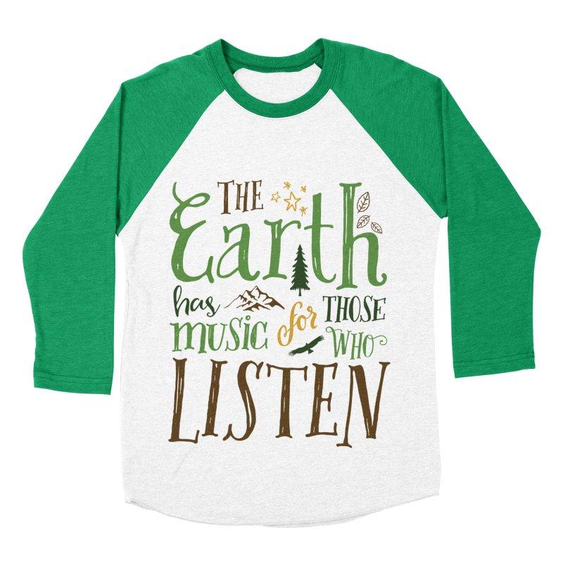 The Earth's Music Women's Baseball Triblend T-Shirt by Margie Mark's Artist Shop