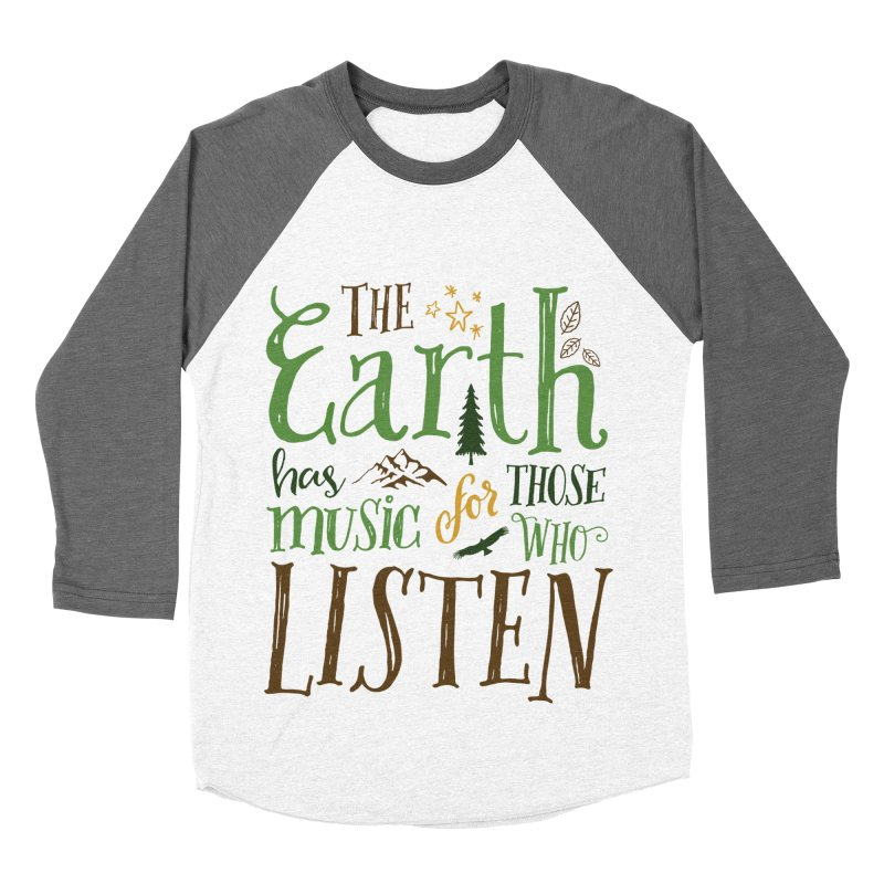 The Earth's Music Men's Baseball Triblend T-Shirt by Margie Mark's Artist Shop